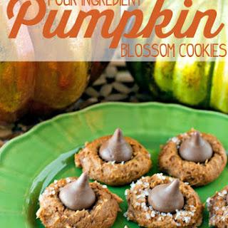 Four Ingredient Pumpkin Blossom Cookies.