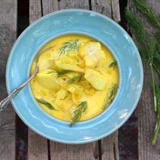 Halibut and Saffron Soup