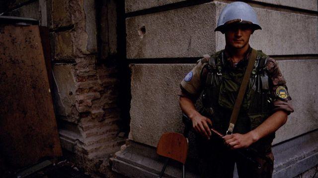 Украинский миротворец на улицах Сараево
