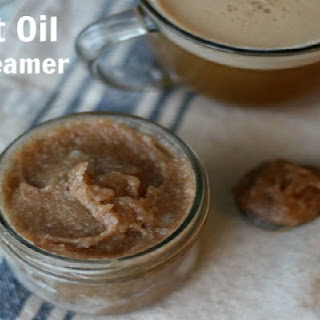 Making Coconut Oil Coffee Creamer.