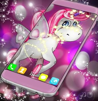 Unicorn Live Wallpaper By Art Poster