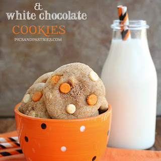 Pumpkin Spice & White Chocolate Cookies