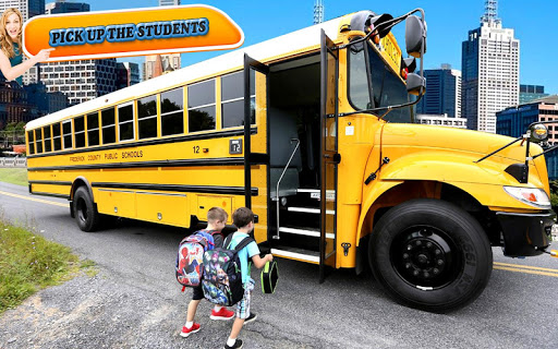 City School Bus Drive 3D: SchoolBus Driving 2018 game (apk) free download for Android/PC/Windows screenshot