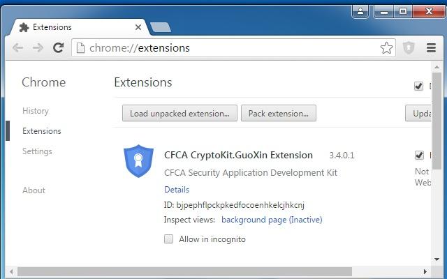 CFCA CryptoKit.GuoXin Extension
