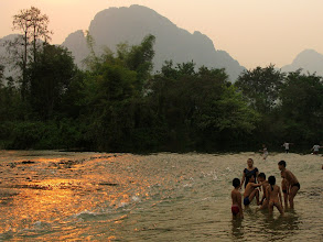 Photo: Nam Song river (Vang Vieng)