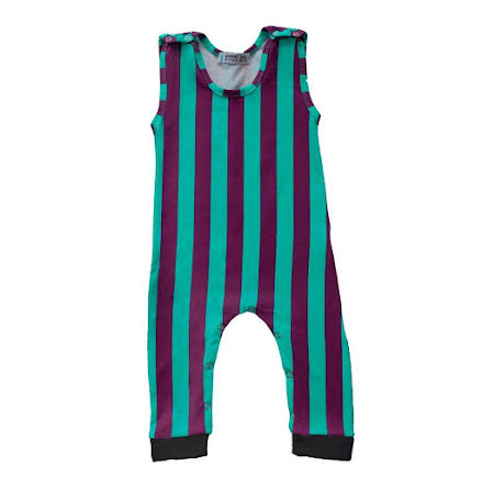 Raspberry Republic Stripe Dungarees