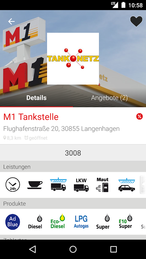 Tank-Netz – Screenshot