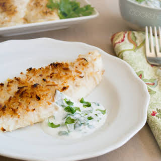 Crispy Coconut Baked Fish Fillets.