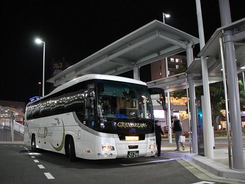 西日本JRバス「グランドリーム大阪2号」 2129 広島駅新幹線口改札中_02