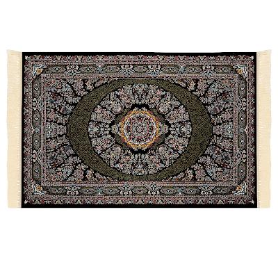 Ковёр 1.00х1.50 э-силк абришам блек 1993 Ковровые галереи