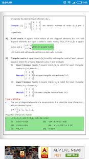 Maths Matrices Formula Book - náhled