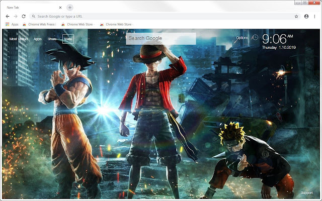 Jump Force HD Wallpapers New Tab Themes