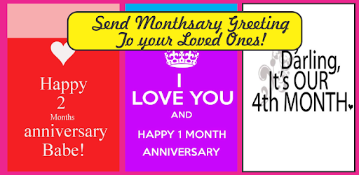 Happy monthsary greeting cards apps on google play m4hsunfo