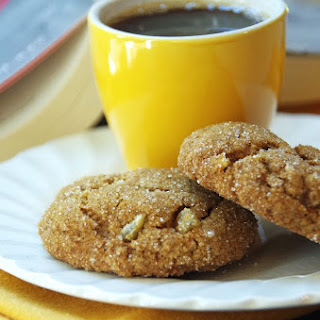 Pumpkin Ginger Snaps with Chewy Crystallized Ginger Chips