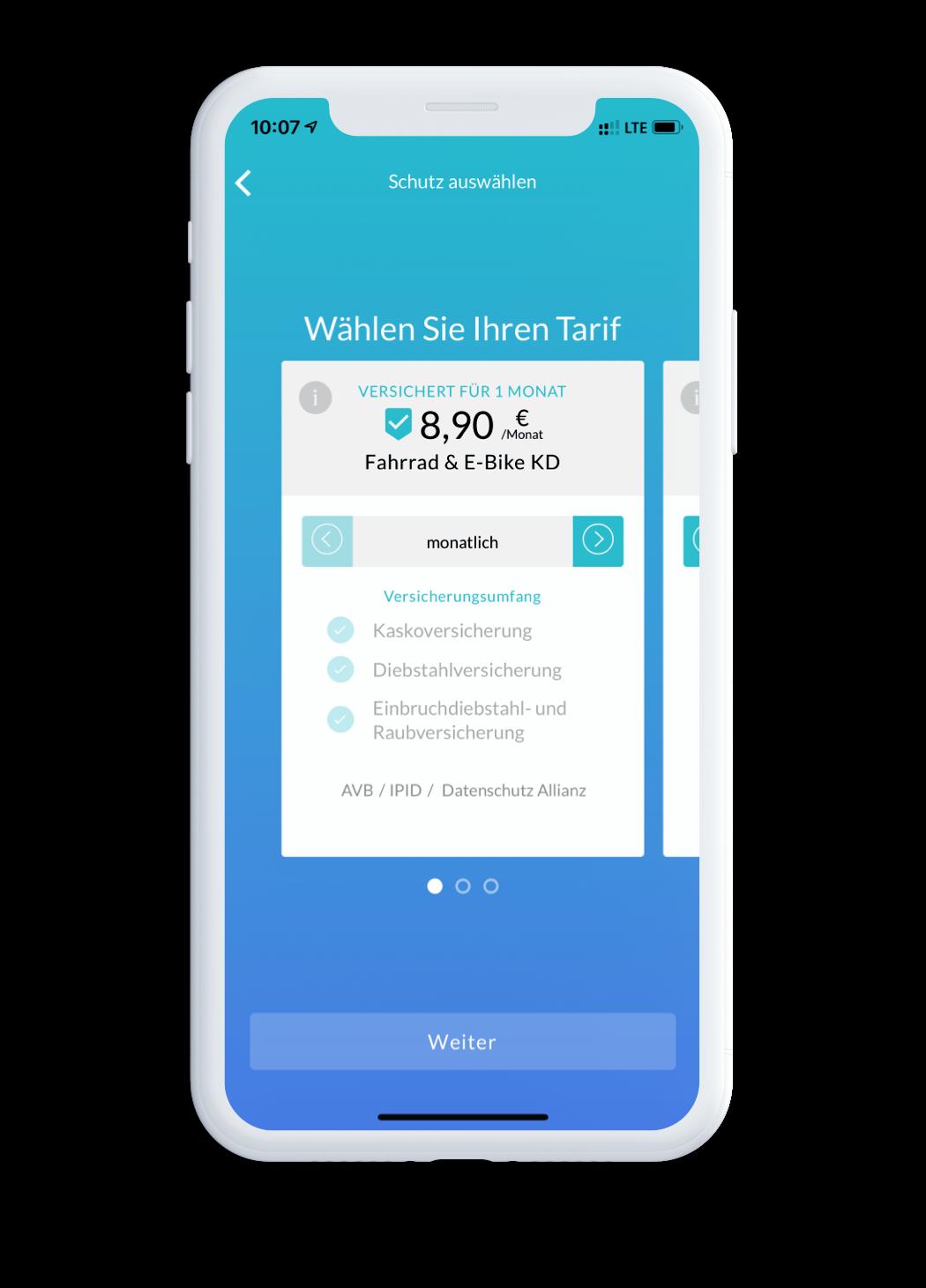 blanket App - Select Tariff