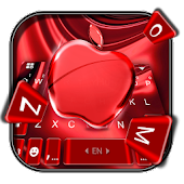 Red Cherry Blush Apple Keyboard Theme
