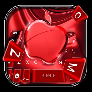 Red Cherry Blush Apple Keyboard Theme