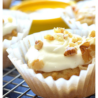 Vegan Butternut Squash Cupcakes with Maple Cream Cheese Frosting.