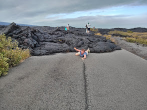 Photo: Uh-oh, Sarah's being chased by lava!