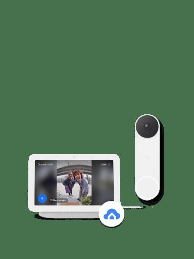 Nest Doorbell (battery) featured alongside Nest Hub 2nd Gen