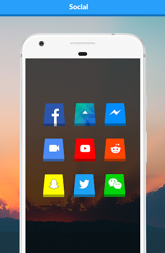 3D - Icon Pack Apps para Android screenshot