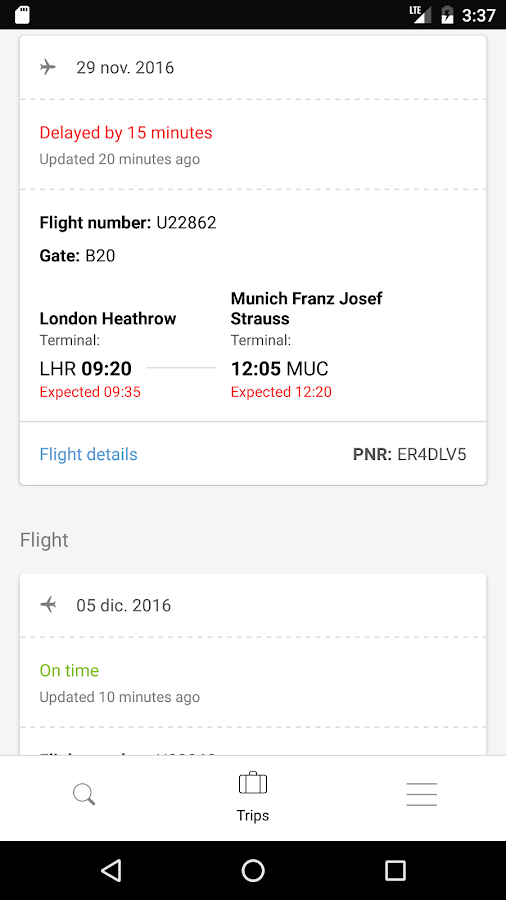 Rumbo: flights search- screenshot