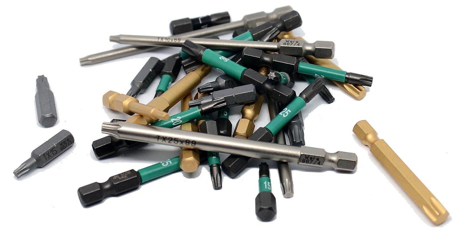 Bits - långa bits, extra långa bits, torx bits, philips stjärnbits, spårbits och insex