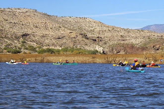 Photo: Paddling the Agua Fria section.