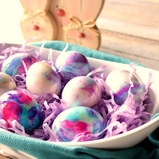 Mayonnaise Tie Dyed Easter Eggs