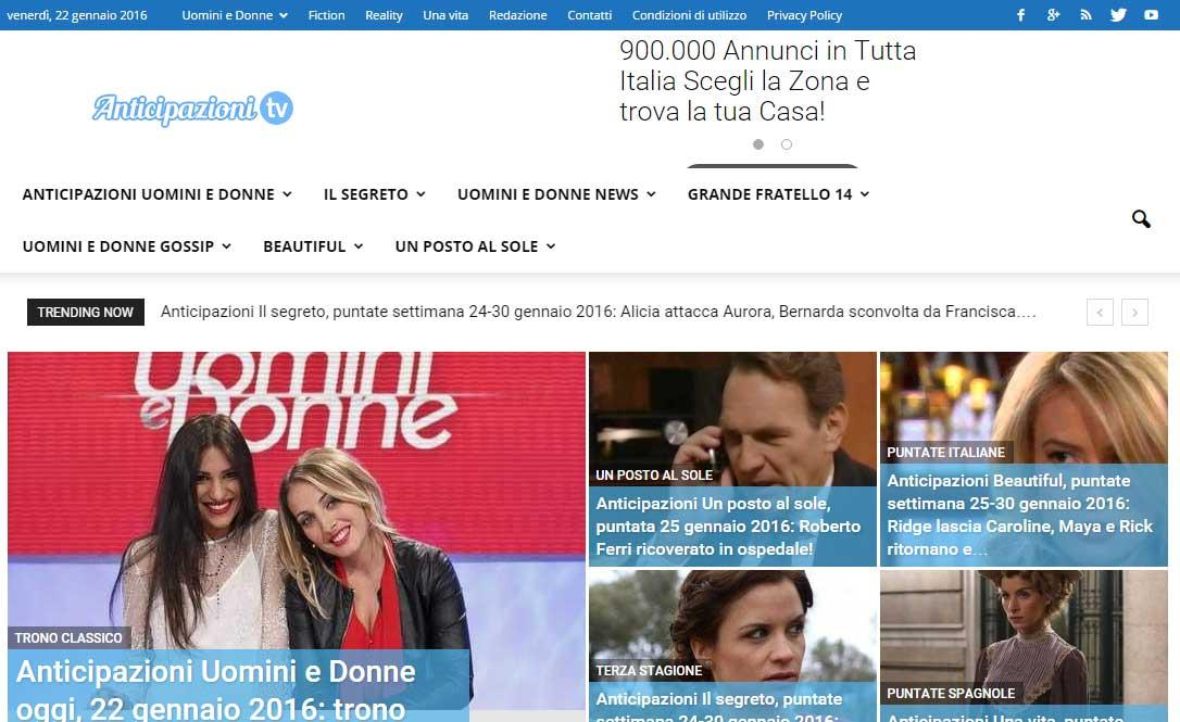 Anticipazioni Tv- screenshot