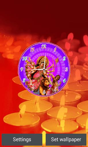 Durga Maa Clock Live Wallpaper