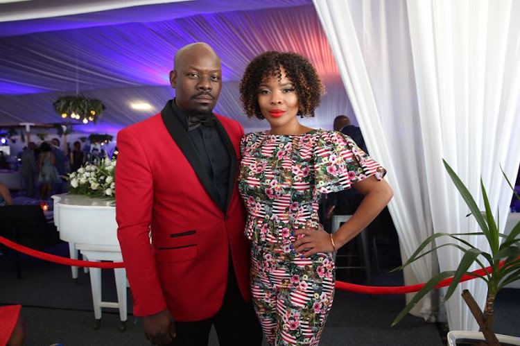 DJ Masechaba Ndlovu with her husband Vusi Ndlovu made a good-looking couple at The Vodacom Durban July.