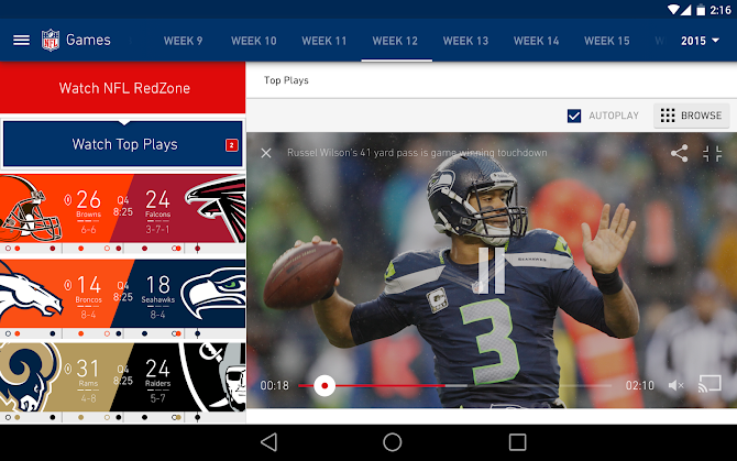 NFL Mobile Android 10