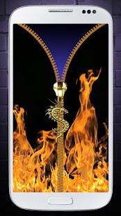 Oheň, zámek obrazovky - náhled