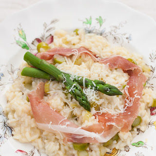 Asparagus Risotto with Prosciutto di Parma Ribbons.