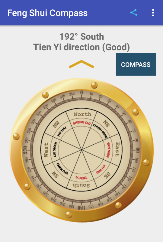 Feng shui Compass- screenshot
