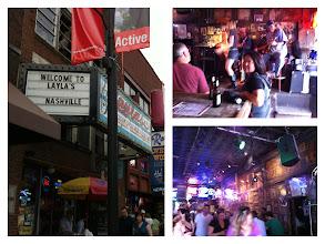 Photo: Nashville, TN bar scene.  Collage.