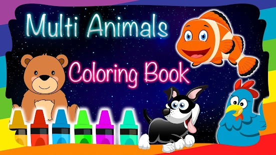 Animals Coloring Multi Books - náhled