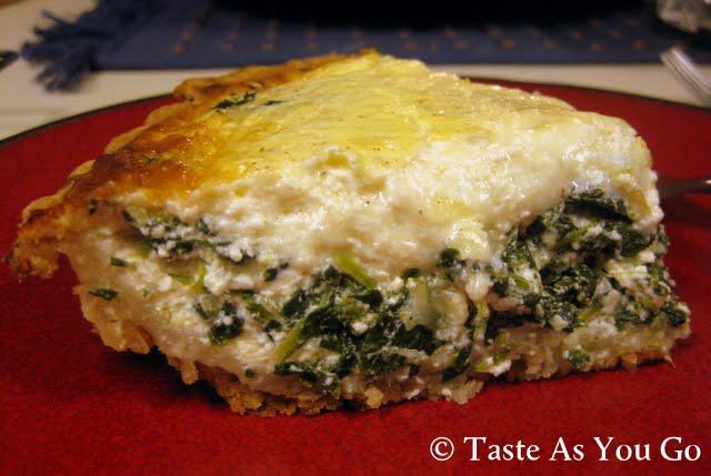 Spinach and Gruyere Quiche