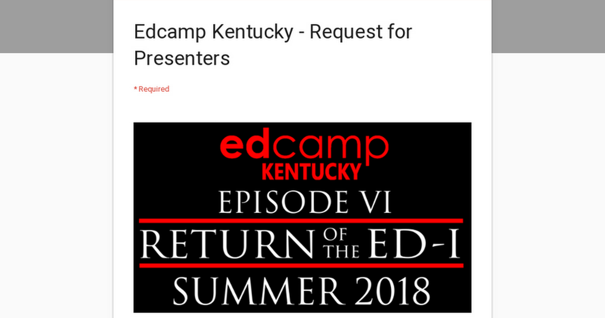 Edcamp Kentucky - Request for Presenters