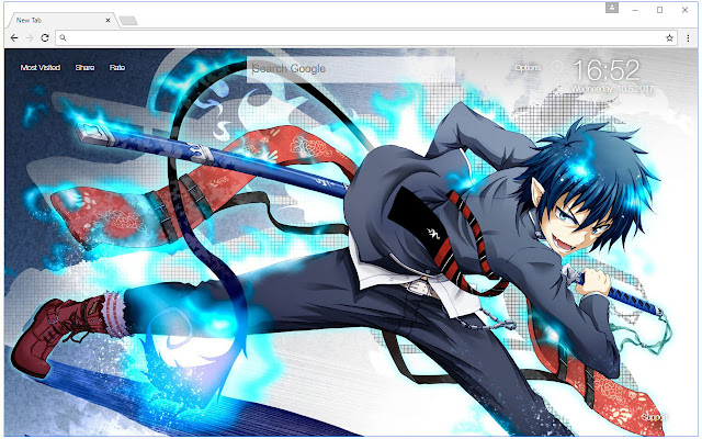 blue exorcist wallpapers hd new tab themes