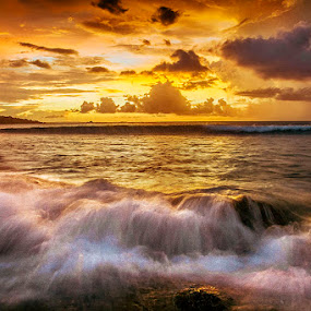 Clear Yellow by Sonny Saban - Landscapes Waterscapes ( sunset, sea, beach, travel, rote island )