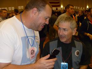 Photo: Steve interviewing Steve Hamburg