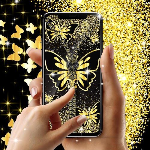 Download Golden Butterflies Lock Screen Apk Latest Version