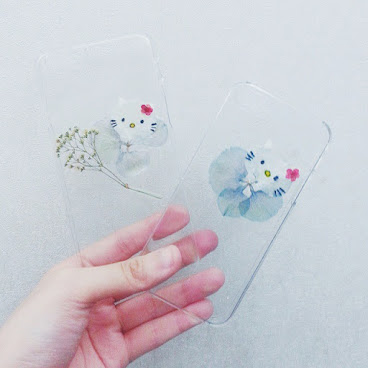 [訂製/custom-made] Hello Kitty Pressed Flower Phone Case