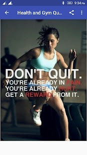 Health and Gym Quotes - náhled