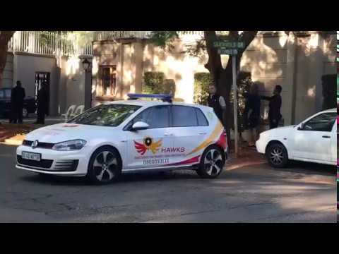 Hawks raided the Gupta compound in Saxonwold, Johannesburg on February 14 2018.