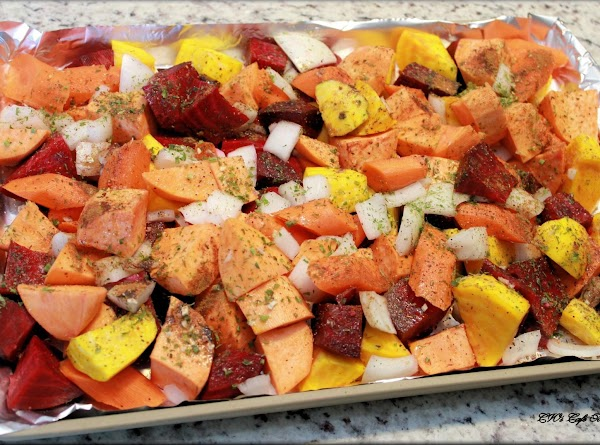 """Prep veggies – peel and clean veggies, and then cut into 1"""" (inch) chunks...."""