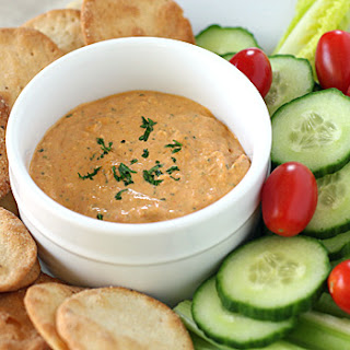 Roasted Red Pepper and Gorgonzola Dip