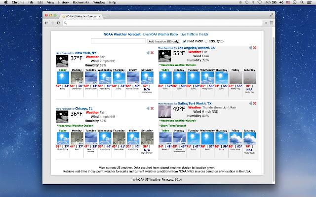 NOAA US Weather Forecast